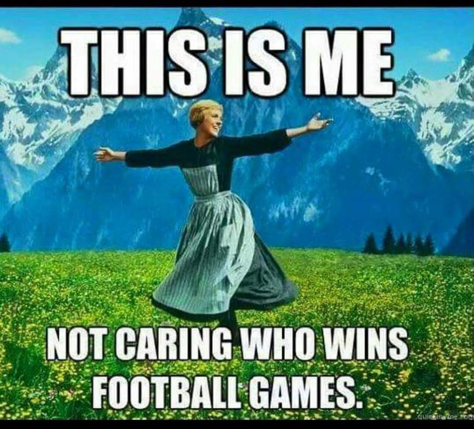 Not Caring about Football